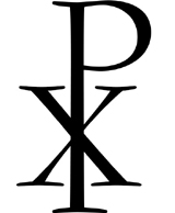 Greek symbols Chi and Rho