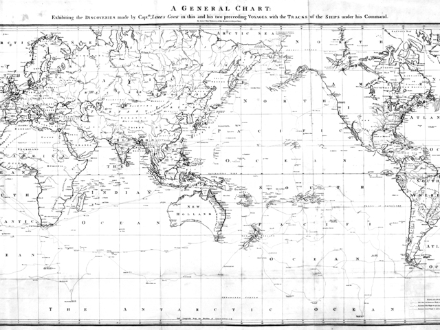 James Cook's World Map