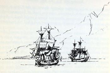 James Cook's Resolution and Discovery
