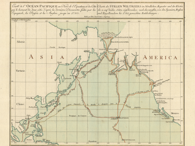Map of James Cook's Third Voyage