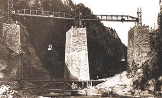 landwasser viaduct construction