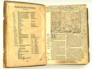 Martin Luther's German version of the Bible in 1534