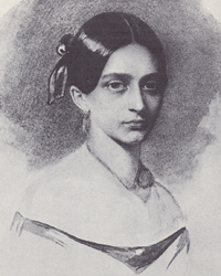 Clara Wieck, age 20, just before her and Robert Schumann were married.
