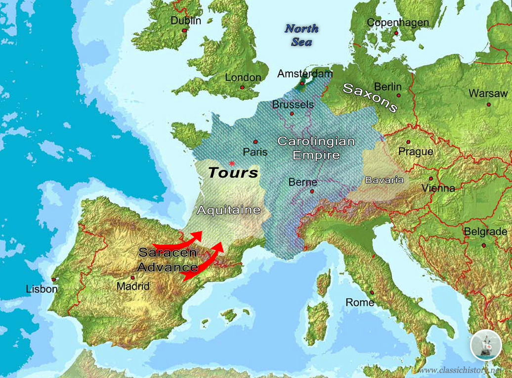 The Battle of Tours 732 AD